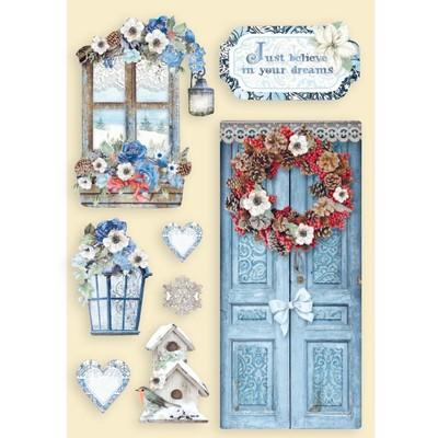 A5 Colored Wooden Frames, Winter Tales - Door & Window
