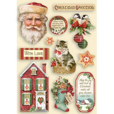 A5 Colored Wooden Frames, Classic Christmas