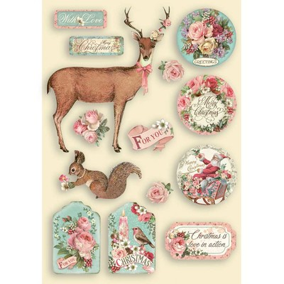 A5 Colored Wooden Frames, Pink Christmas