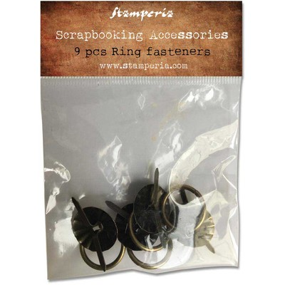 Scrapbooking Accessories, Ring Fasteners (9pc)
