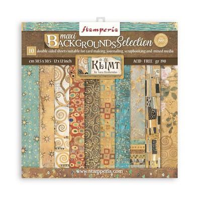 """30X30cm (12""""X12"""") Maxi Backgrounds Paper Pack, Klimt"""