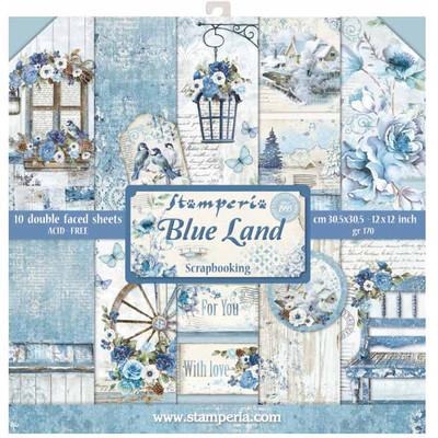 """30X30cm (12""""X12"""") Paper Pack, Blue Land"""