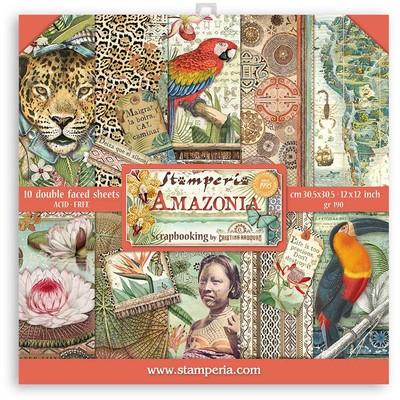 """30X30cm (12""""X12"""") Paper Pack, Amazonia"""