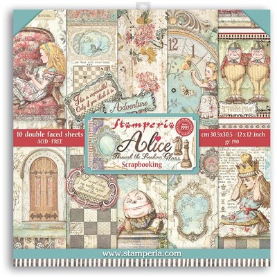 """30X30cm (12""""X12"""") Paper Pack, Alice Through the Looking Glass"""