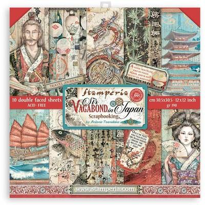 "30X30cm (12""X12"") Paper Pack, Sir Vagabond in Japan"