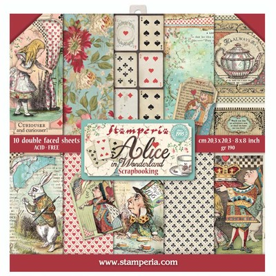 "20.3X20.3cm (8""X8"") Paper Pad, Alice"