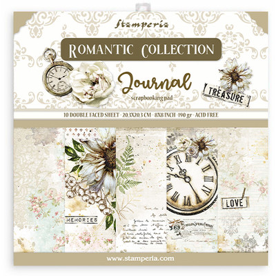"20.3X20.3cm (8""X8"") Paper Pad, Romantic Journal"