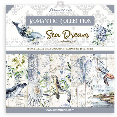 "20.3X20.3cm (8""X8"") Paper Pad, Romantic Sea Dream"