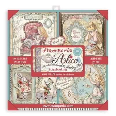 """30X30cm (12""""x12"""") Maxi Paper Pack, Alice in Wonderl. & TTLG"""
