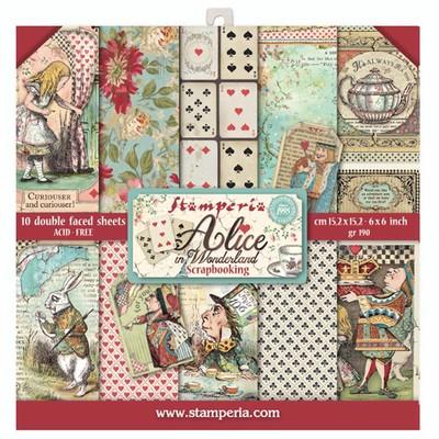 "15.24X15.24cm (6""X6"") Paper Pad, Alice in Wonderland"