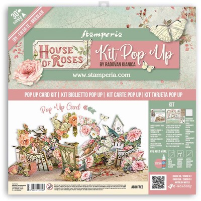 Pop Up Card Kit, House of Roses