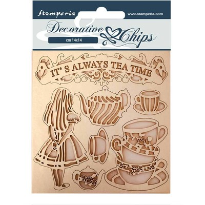 Decorative Chips, Alice Through the Looking Glass - Tea Time
