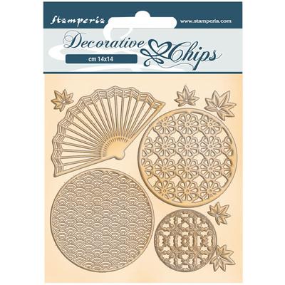 Decorative Chips, Sir Vagabond in Japan - Fan & Circles