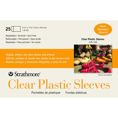 "Clear Plastic Card Sleeves, 5.4375"" x 7.25"" (25pk)"