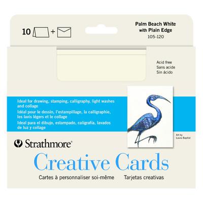 """Creative Cards, 5"""" x 6.875"""" - Palm Beach White Plain Ed. (10pk)"""