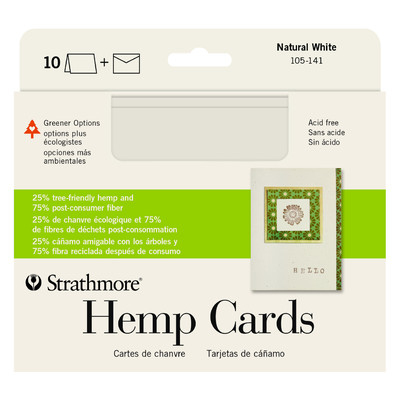 "Greener Option Cards, 5"" x 6.875"" - Hemp Natural White (10pk)"