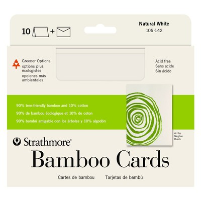 "Greener Option Cards, 5"" x 6.875"" - Bamboo Natural White (10pk)"
