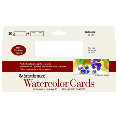 "Watercolor Cards, 3.875"" x 9"" (10pk)"