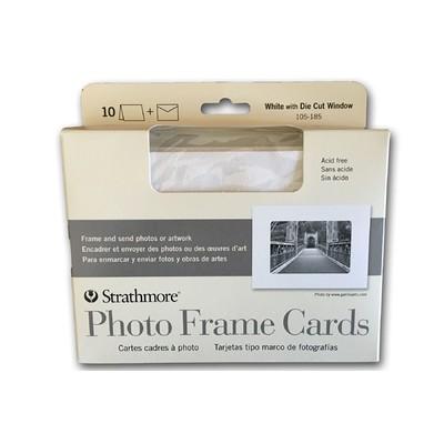 "Photo Frame Cards, White - 5"" x 6.875"" (10pk)"