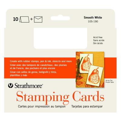 "Stamping Cards, 5"" x 6.875"" - Smooth White (10pk)"