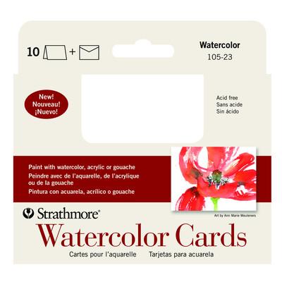 "Watercolor Cards, 3.5"" x 4.875"" (10pk)"