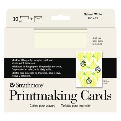 """Printmaking Cards, 5"""" x 6.875"""" - Natural White (10pk)"""