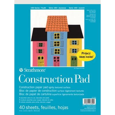 "100 Series Construction Paper Pad, 9"" x 12"""