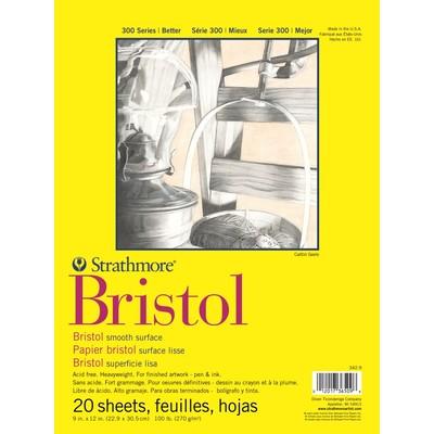 "300 Series Bristol Pad, Smooth - 9"" x 12"""