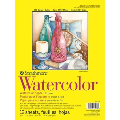 "300 Series Watercolor Pad, Cold Press - 9"" x 12"" (Tape Bound)"