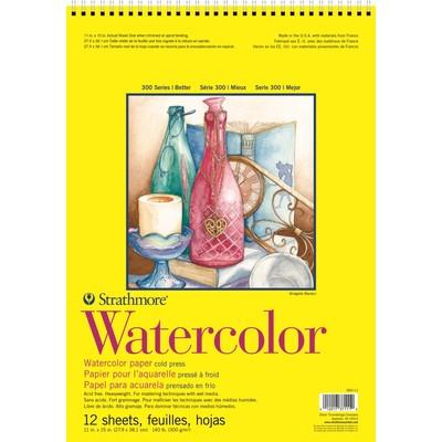 "300 Series Watercolor Pad, Cold Press - 11"" x 15"" (Wire Bound)"