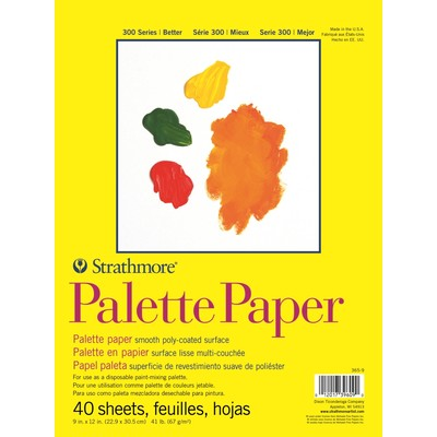 "300 Series Palette Paper Pad, 9"" x 12"""