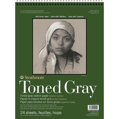 "400 Series Toned Sketch Pad, Gray - 11"" x 14"""
