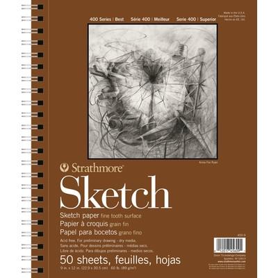 "400 Series Sketch Pad, 9"" x 12"" (50 Sheets)"