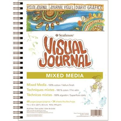 "Visual Journal, Mixed Media - 9"" x 12"""