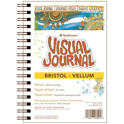 "Visual Journal, Bristol Vellum - 5.5"" x 8"""