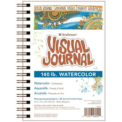 """Visual Journal, Watercolor 140lb - 5.5"""" x 8"""""""