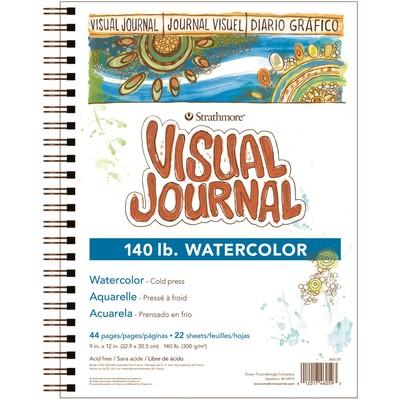"""Visual Journal, Watercolor 140lb - 9"""" x 12"""""""