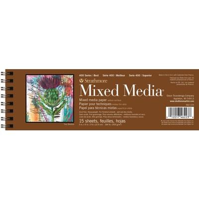 "400 Series Mixed Media Pad, White - 3"" x 9"""