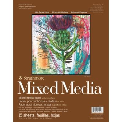 "400 Series Mixed Media Pad, White - 11"" x 14"""