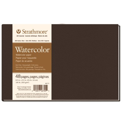 "400 Series Watercolor Hardbound Art Journal, 5.5"" x 8.5"""