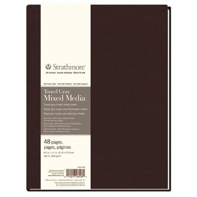 "400 Series Toned Mixed Media Hardb. Journal, Gray - 8.5"" x 11"""