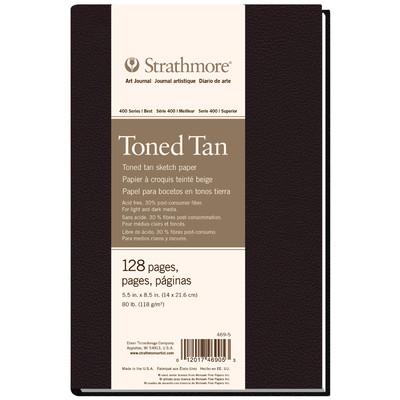 "400 Series Toned Sketch Hardb. Art Journal, Tan - 5.5"" x 8.5"""