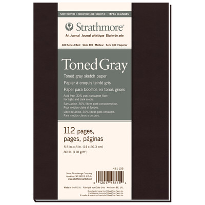 """400 Series Toned Softcover Art Journal, Gray - 5.5"""" x 8"""""""