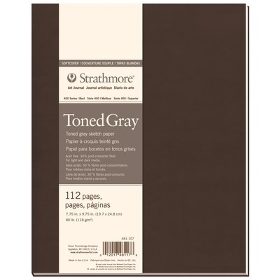 """400 Series Toned Softcover Art Journal, Gray - 7.75"""" x 9.75"""""""
