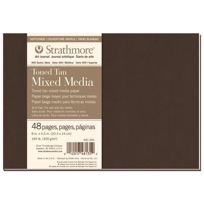 "400 Series Toned Mix Media SC Art Journal, Tan - 8"" x 5.5"""