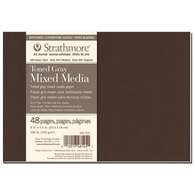 "400 Series Toned Mix Media SC Art Journal, Gray - 8"" x 5.5"""