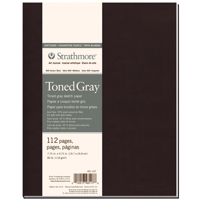 "400 Series Toned Mix Media SC Art Journal, Gray - 7.75"" x 9.75"""