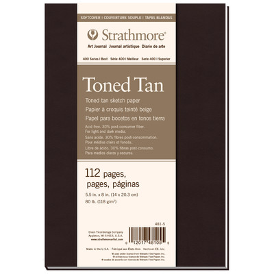 """400 Series Toned Softcover Art Journal, Tan - 5.5"""" x 8"""""""