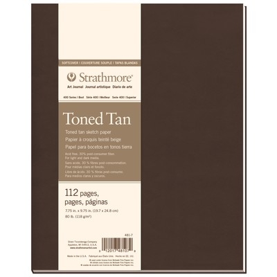 """400 Series Toned Softcover Art Journal, Tan - 7.75"""" x 9.75"""""""