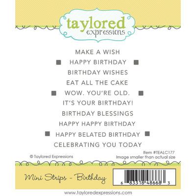 Cling Stamp, Mini Strips - Birthday